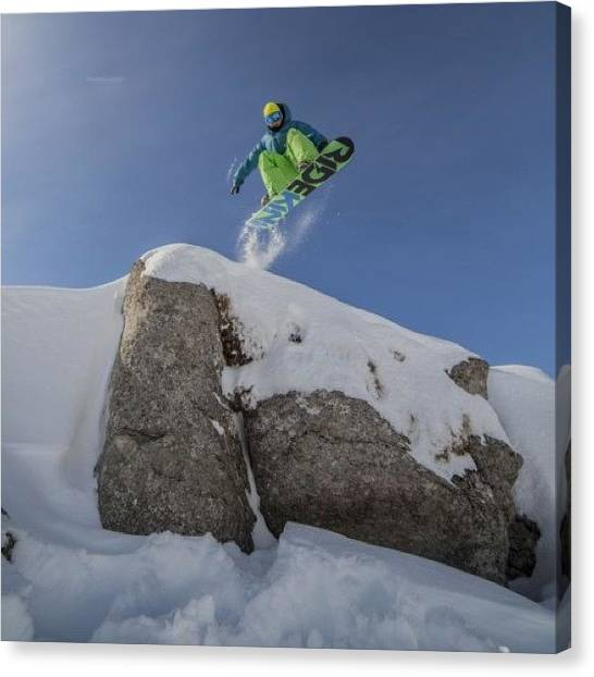 Snowboarding Canvas Print - #instagram #instaprint #instacanvas by Oprea George