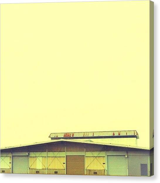 Warehouses Canvas Print - #iphoneonly #iphoneonly4 #倉庫 by Asagi Miu