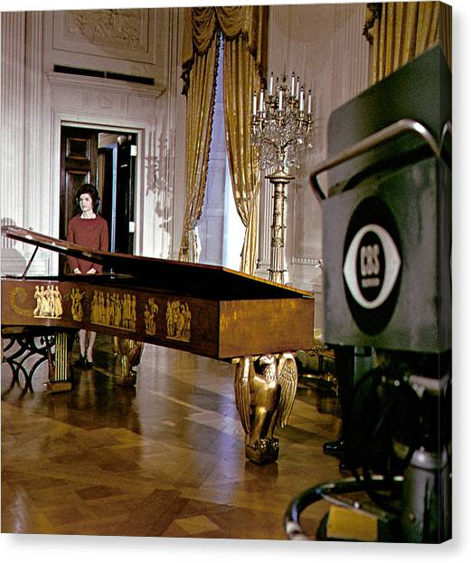 Harpsichords Canvas Print - Jacqueline Kennedy, 1962 by Everett