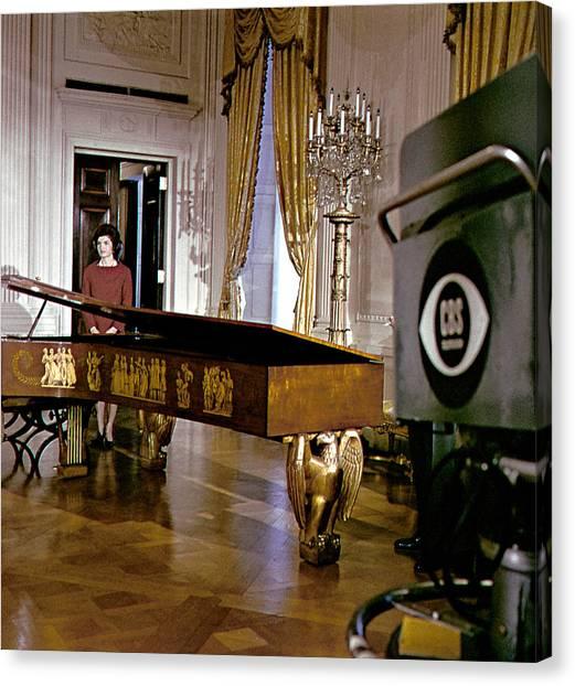 Harpsichords Canvas Print - Jacqueline Kennedy, 1962 by Everett