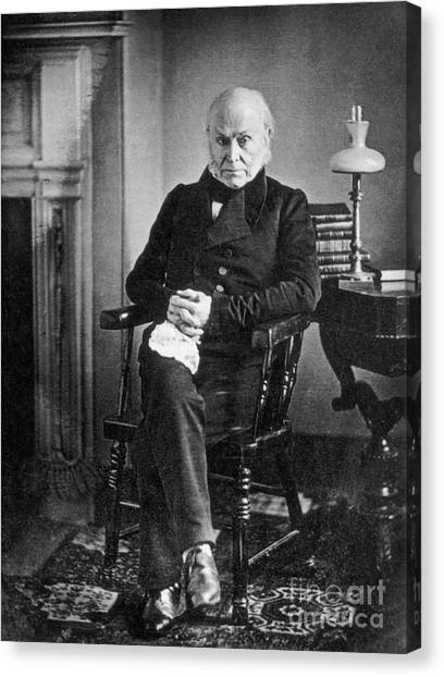 Democratic Politicians Canvas Print - John Quincy Adams, 6th American by Photo Researchers