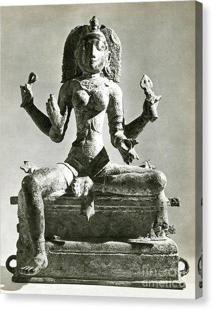 Hindu Goddess Canvas Print - Kali by Photo Researchers