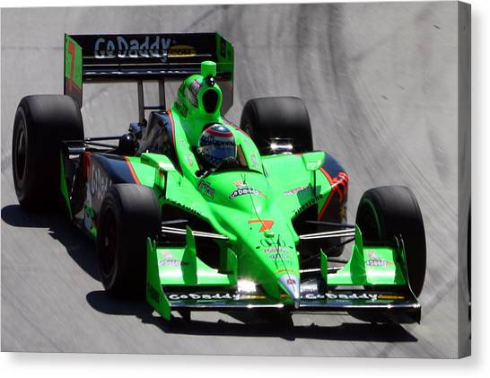 Danica Patrick Canvas Print - Long Beach by Steve Parr
