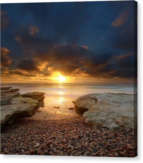 Canvas Print - Long Exposure Sunset In North San Diego by Larry Marshall