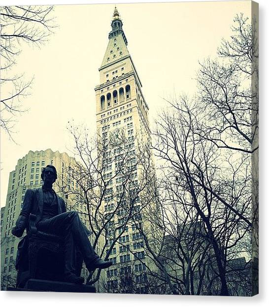 Landmarks Canvas Print - Metlife Tower by Natasha Marco