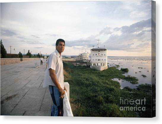 Congo River Canvas Print - Muhammad Ali (1942- ) by Granger