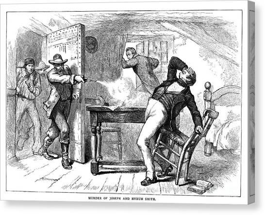Anti Mormon Canvas Print - Murder Of Smith, 1844 by Granger