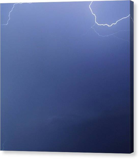 Lightning Canvas Print - #nature #lightning #storm by Dusty Anderson