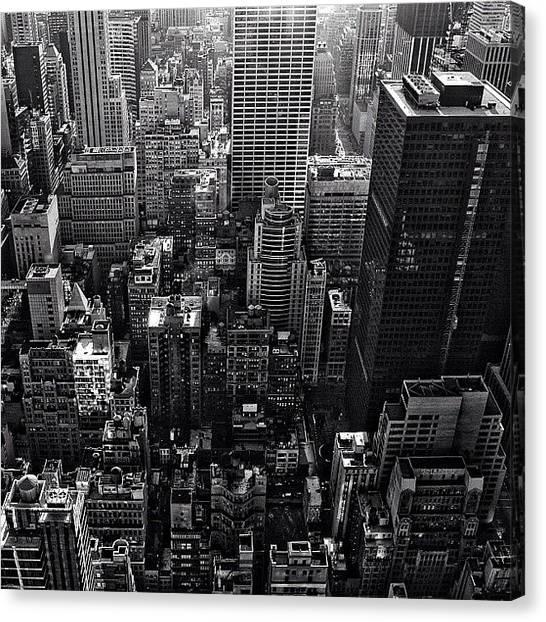 Skylines Canvas Print - New York New York - Ny by Joel Lopez