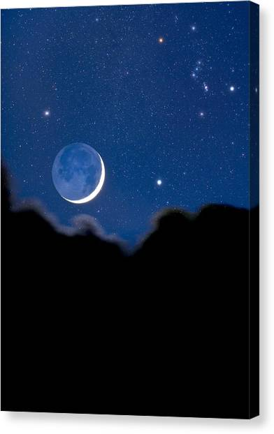 Night Sky Canvas Print by David Nunuk