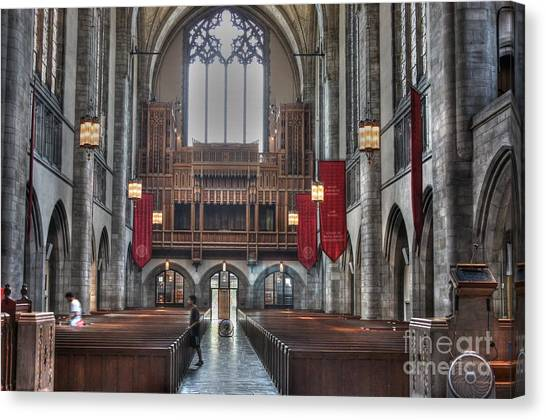 Organ Loft Canvas Print by David Bearden