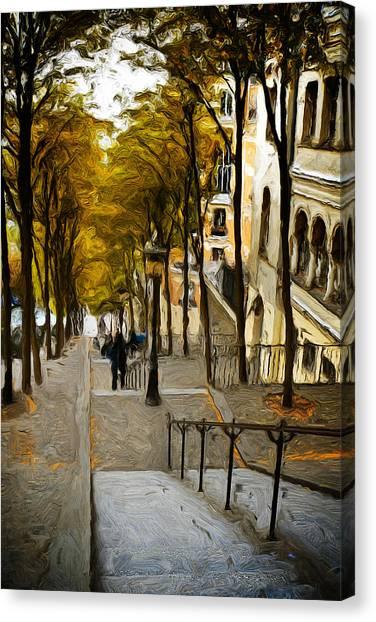 Paris Stairs Canvas Print
