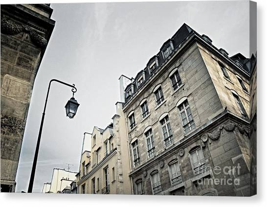 Flag Canvas Print - Paris Street by Elena Elisseeva