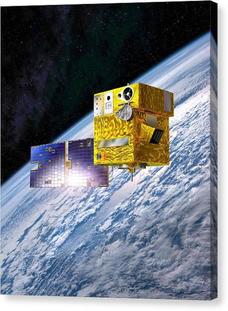 Picard Satellite, Artwork Canvas Print by David Ducros