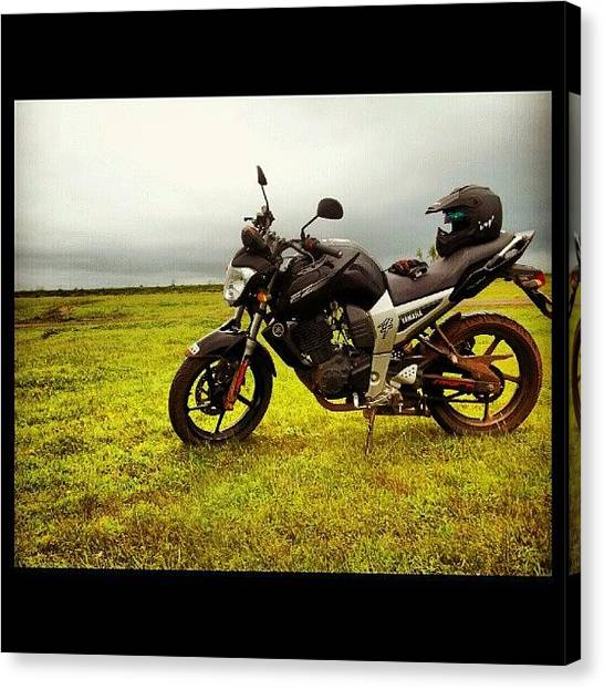 Yamaha Canvas Print - #picoftheday #photooftheday by Rohit Mule