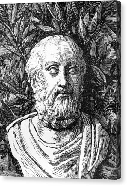 The Uffizi Gallery Canvas Print - Plato, Ancient Greek Philosopher by