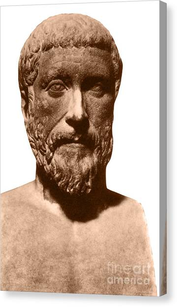 Irrational Canvas Print - Pythagoras, Greek Mathematician by Photo Researchers