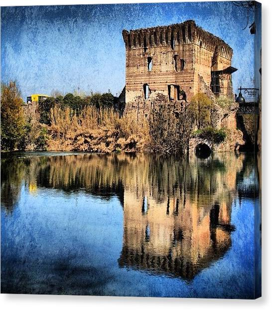 Italy Canvas Print - Reflection by Luisa Azzolini