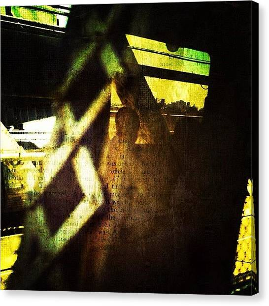Subway Canvas Print - Reflection On The Q by Natasha Marco