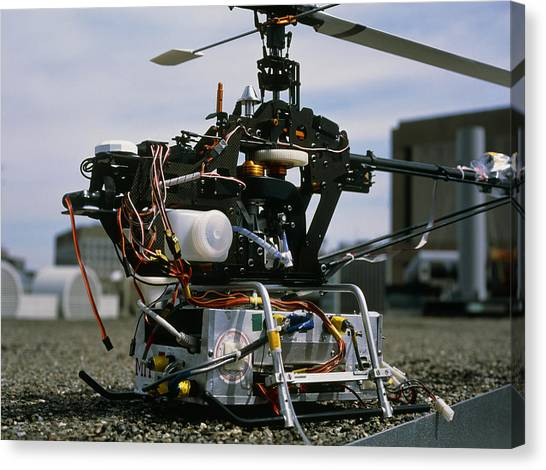 Robotic Helicopter Canvas Print by Volker Steger