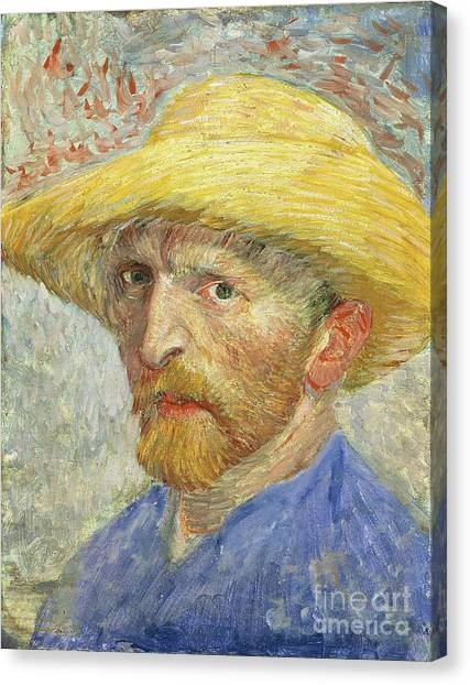 Anxious Canvas Print - Self Portrait by Vincent van Gogh