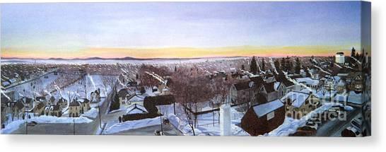 Sentinels At Dawn Canvas Print
