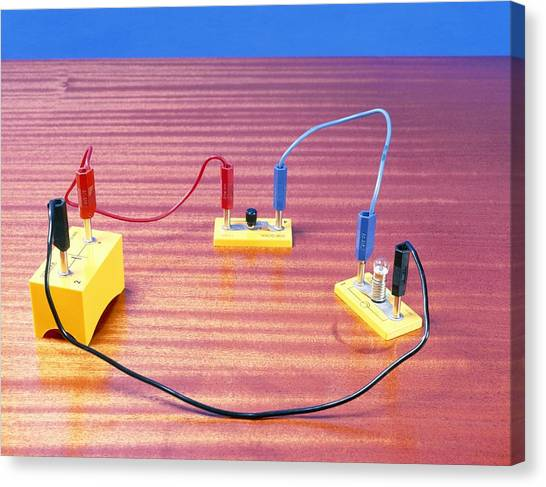 Simple Electrical Circuit Canvas Print by Andrew Lambert Photography