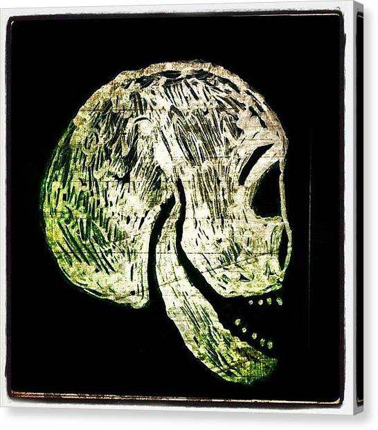 Skulls Canvas Print - Skull by Torgeir Ensrud