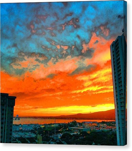 Seahorses Canvas Print - #sky #sbx1 #stream #stream #sunset by Andy Walters