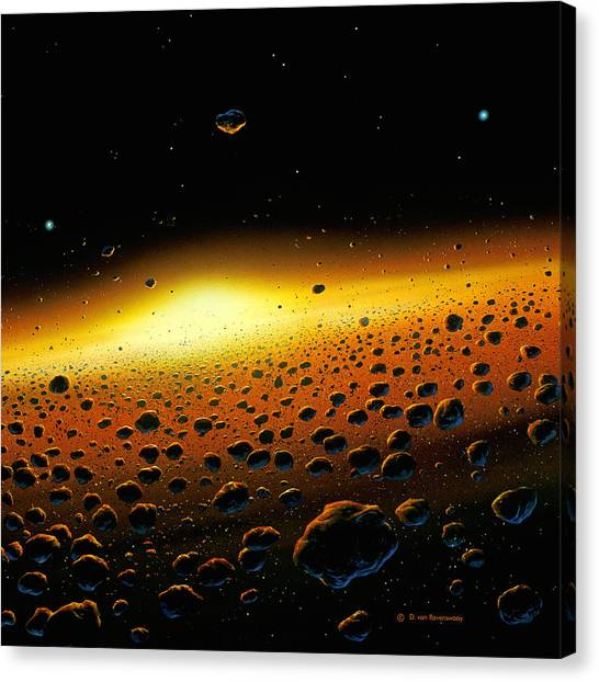 Solar System Formation Canvas Print by Detlev Van Ravenswaay