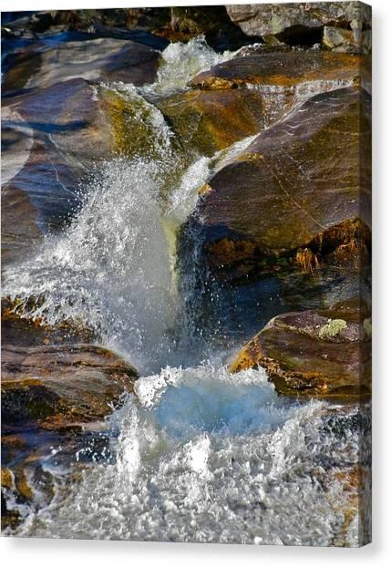 Step Falls Splash 2 Canvas Print by George Ramos
