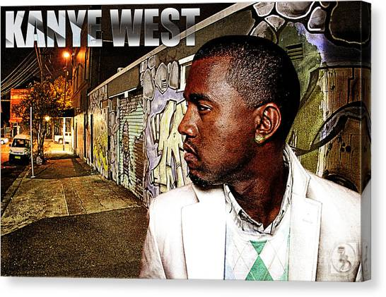 Street Phenomenon Kanye West Canvas Print by The DigArtisT