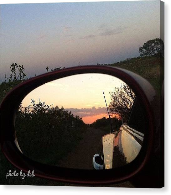 Lake Sunrises Canvas Print - #sun #trees #sunrise #lake #water by Deb Lew