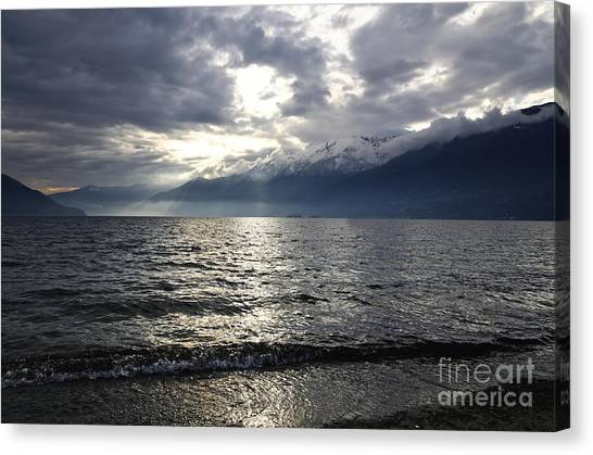 Sunlight Over A Lake Canvas Print