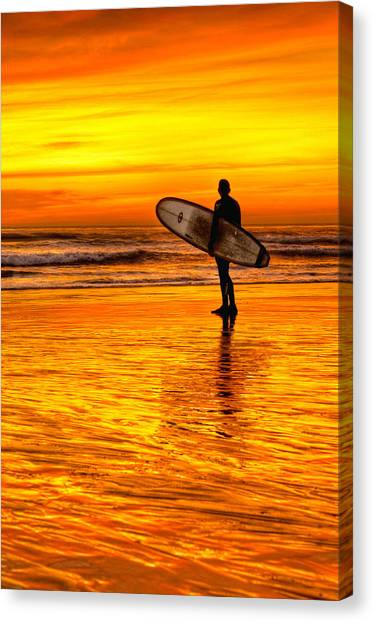 Canvas Print - Surfing Sensations by Donna Pagakis