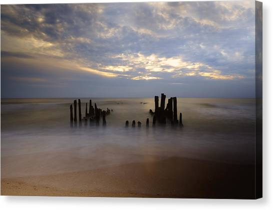 Groin Canvas Print - Sylt by Joana Kruse