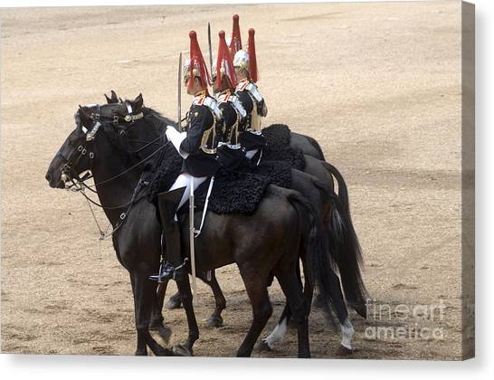 Royal Guard Canvas Print - The Household Cavalry Performs by Andrew Chittock
