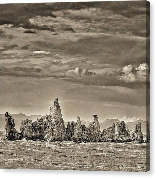 Geology Canvas Print - Tufas At Mono Lake, California by Chris Bechard