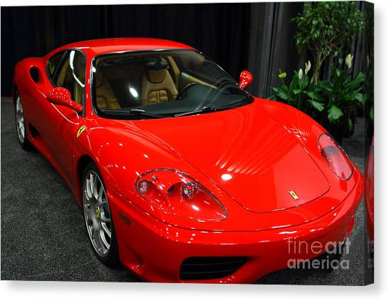 RED FERRARI POSTER  360 MODENA SPORTS CAR RACING ROAD SPEED PRINT WALL ART