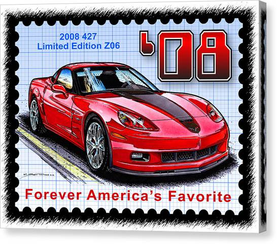 2008 427 Limited Edition Z06 Canvas Print