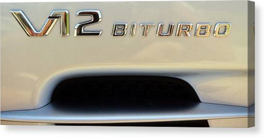 2009 Biturbo V12 Mercedes Canvas Print
