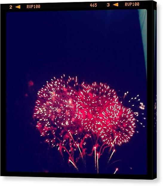 Fireworks Canvas Print - 2012! by George Saad