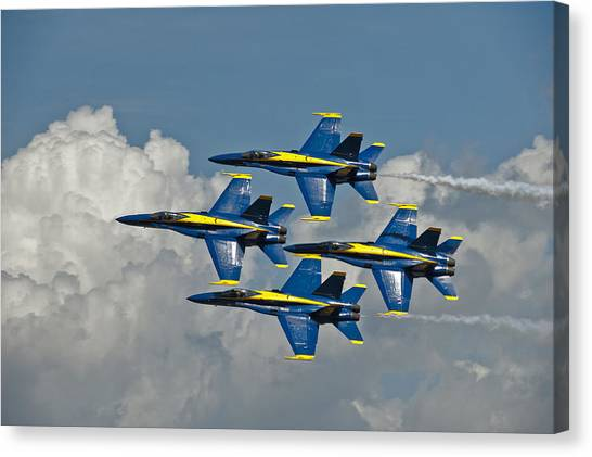 2012 U.s. Navy Blue Angels Canvas Print