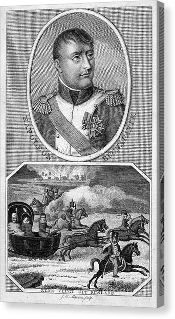 Sleds Canvas Print - Napoleon I (1769-1821) by Granger