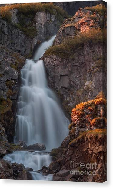 Waterfall Iceland Canvas Print