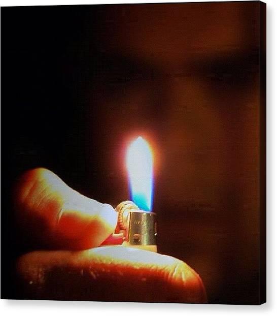 Flames Canvas Print - #instago #instahub #instagood by Jack Wilson