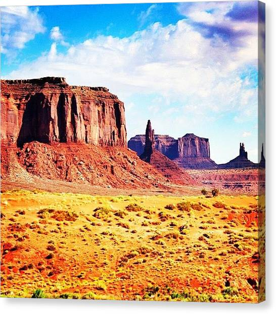 Utah Canvas Print - Monument Valley by Luisa Azzolini
