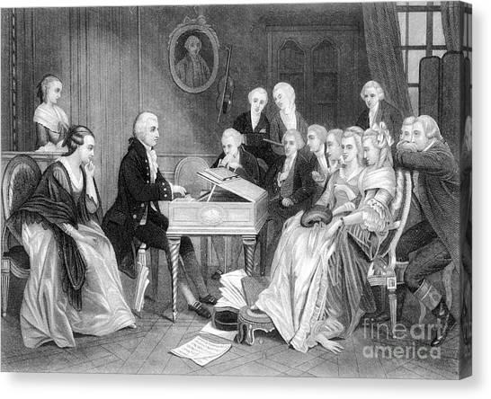 Harpsichords Canvas Print - Wolfgang Amadeus Mozart by Granger