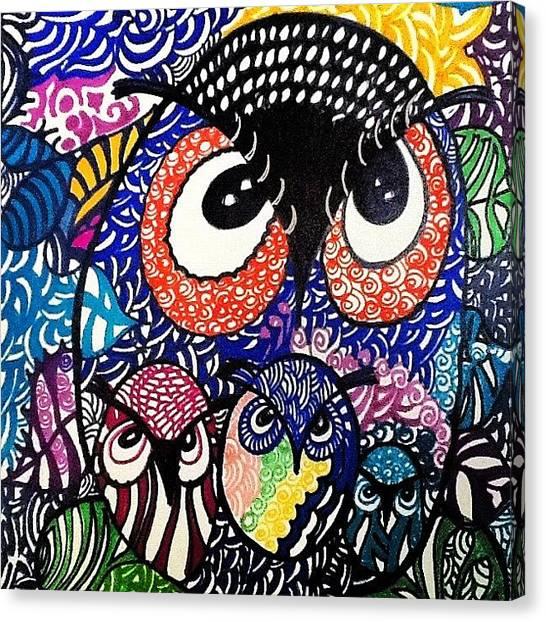 Owls Canvas Print -  by Sandra Lira