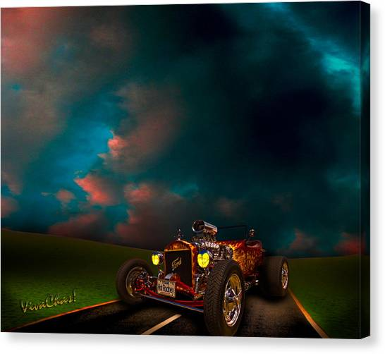 23 Model-t Ford Roadster Hot Rod Canvas Print